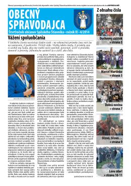 Obecný spravodajca 4/2014