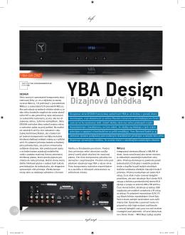 YBA Design Dizajnová lahôdka