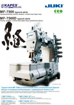 MF-7500 typová séria MF-7500D typová séria