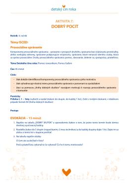Aktivita 7: Dobrý pocit (PDF)