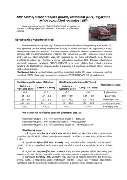 Súbor so základnými informáciami o meraní a vyhodnotení