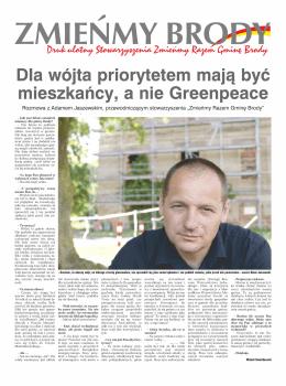 Dla wójta priorytetem mają być mieszkańcy, a nie Greenpeace