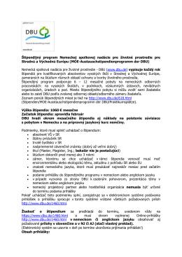 štipendium - Deutsche Bundesstiftung Umwelt