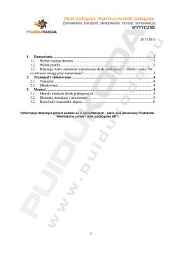 Puidukoda poradnik do montażu naszych desek podłogowych PDF