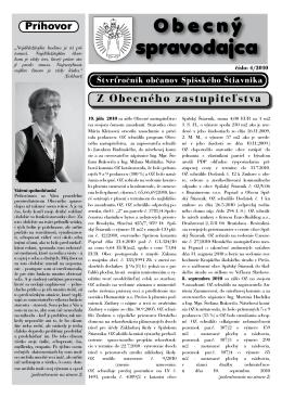Obecný spravodajca 4/2010