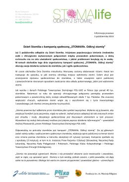 """Dzień Stomika z kampanią społeczną """"STOMAlife. Odkryj stomię"""""""