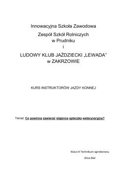 Apteczka w stadninie koni dokument pdf