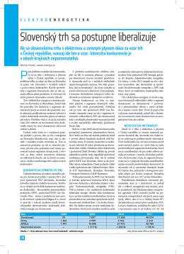Slovenský trh sa postupne liberalizuje - PRO