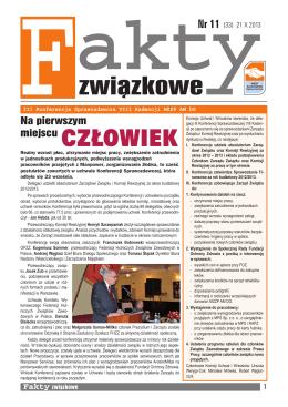 NR 11 (33) 21 X 2013 - Międzyzakładowy Związek Zawodowy