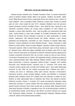 PDF 100 rokov od prvej svetovej vojny