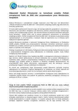 pobierz PDF - Koalicja Klimatyczna