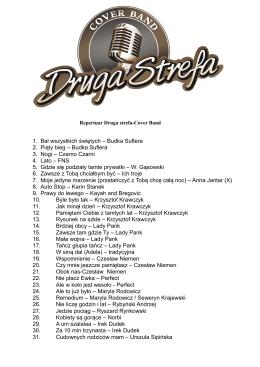 Repertuar Druga Strefa Coverband 2014 do pobrania w formacie .pdf