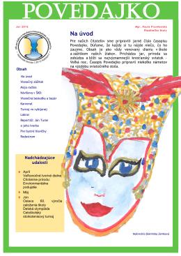 Školský časopis Povedajko, jar 2012 [PDF, 2,51MB]