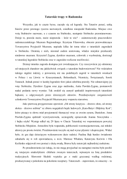 """""""Tatarskie tropy w Radomsku"""" (PDF – zobacz, ok. 0.2 MB)"""