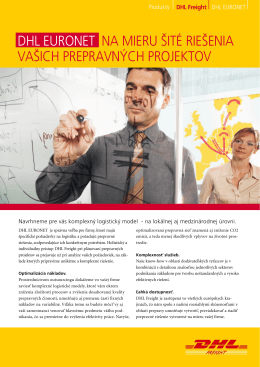 Stiahnuť brožúrku DHL EuroNet