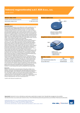 AXA Indexový negarantovaný adf Január 2015