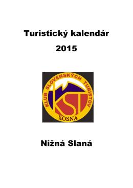 Turistický kalendár 2015 Nižná Slaná