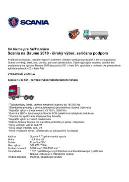 Scania TS_vozidlá na Baume