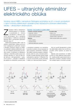 UFES – ultrarýchly eliminátor elektrického oblúka (Slovensky