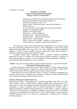 Nr XVII/2013 - Samorząd Gminy Sztabin