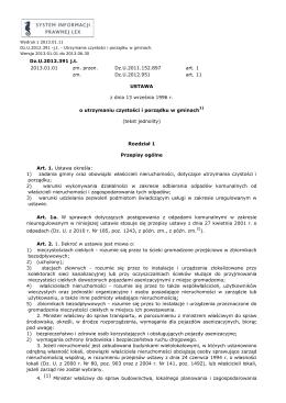 Utrzymanie czystości i porządku w gminach. - Dz.U.2012.391 -j.t.