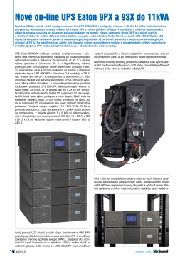 Nové on-line UPS Eaton 9PX a 9SX do 11kVA