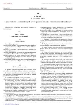 94/2013 Zákon o puncovníctve a skúšaní drahých