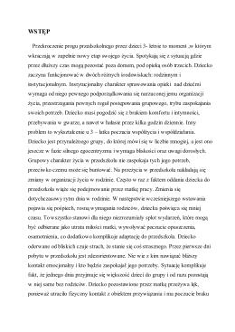 """Program adaptacyjny - Przedszkole Publiczne """"Calineczka"""""""