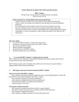 DHC Continus ® ulotka dla pacjenta