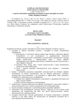 UCHWAŁA NR 356/XXIX/2013 RADY MIASTA CIECHANÓW z dnia