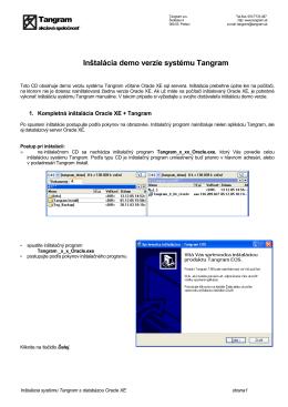 Inštalácia demo verzie systému Tangram