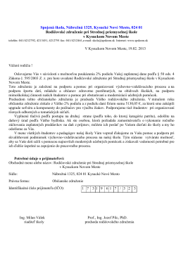 Spojená škola, Nábrežná 1325, Kysucké Nové Mesto, 024 01