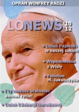 lonews - Liceum Ogólnokształcące w Siewierzu