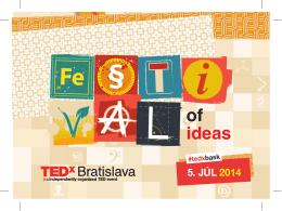Pozrite si brožúru z TEDxBratislava 2014