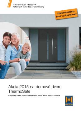 Akcia 2015 na domové dvere ThermoSafe - BOP