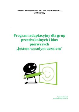Program adaptacyjny dla grup przedszkolnych i