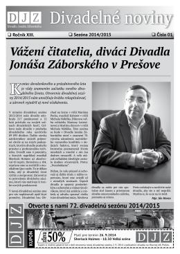 č. 1 / XIII / september 2014