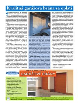 Kvalitná garážová brána sa oplatí