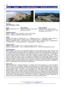 Göller + Gippel + Johannesbachklamm = chuťovka pre horalov