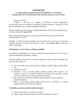 Uznesenie - Vyhlásenie voľby kontrolóra