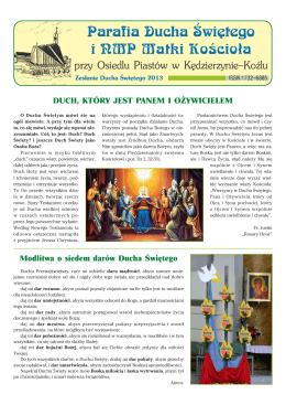 Zesłanie Ducha Świętego 2013 - Parafia pw Ducha Świętego i NMP