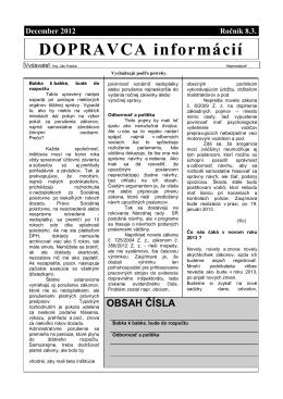 Dopravca informácií december 2012