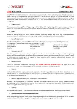 ClingZ duży format Składowanie i druk