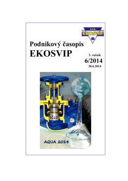 časopis_6_2014 - EKO SVIP, sro