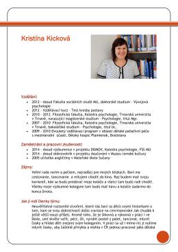 Mgr. Kristína Kicková