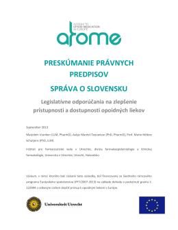 preskúmanie právnych predpisov správa o slovensku