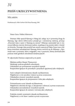 """""""Blask oświecenia"""" - Milarepa, Pieśń urzeczywistnienia (PDF)."""
