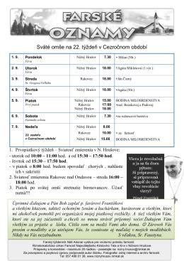 Adonai č. 35/1 - Farnosť Nižný Hrušov