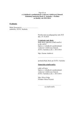 Správa 2013/2014