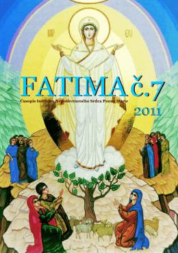 Fatima 1-25 - Inštitút Nepoškvrneného Srdca Panny Márie